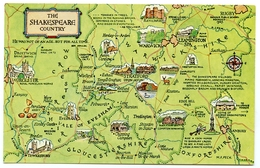 MAP : ENGLAND - THE SHAKESPEARE COUNTRY - Maps