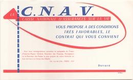 """Buvard """" C.N.A.V """" La Caisse Nationale D'assurances Vie ( Pliures, 21 X 13,5 Cm ) - Bank & Insurance"""