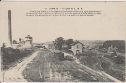 D51 - FISMES - LA GARE DU C.B.R.  - GARE TERMINUS DE L'EMBRANCHEMENT FISMES-BOULEUSE SUR LA LIGNE REIMS-DORMANS ... - Fismes