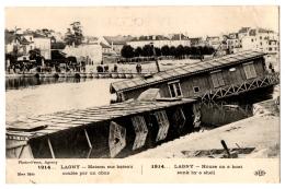 CPA 77 - LAGNY (Seine Et Marne) - 1914... Maison Sur Bateau Coulée Par Un Obus - ELD 16ème Série - Lagny Sur Marne