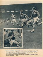RUGBY : PHOTO, FRANCE-GALLES (13-19), COLOMBES, JEAN DUPUY, MICHEL VANNIER, TOURNOI DES 5 NATIONS, COUPURE REVUE (1957) - Rugby