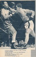 BOXE : PHOTO, JOE LOUIS - ROCKY MARCIANO, 26 OCTOBRE 1951, MADISON SQUARE GARDEN, NEW-YORK, COUPURE REVUE (1957) - Boxe