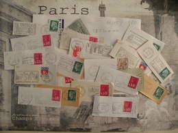 Marcophilie < Lot De 25 Flammes > Départements Français (07 Ardèche)(08 Ardennes)(09 Ariège)(10 Aube) Lot N°58 - Postmark Collection (Covers)