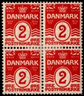 ~~~ Denmark 1905 - Coat Of Arms Perf 12.75 Great Block/4 - Mi. 43 A * MH OG  ~~~ - 1905-12 (Frederik VIII)