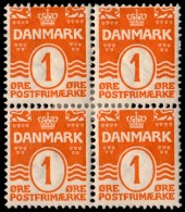~~~ Denmark 1905 - Coat Of Arms Perf 12.75 Great Block/4 - Mi. 42 A * MH OG  ~~~ - 1905-12 (Frederik VIII)