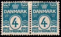 ~~~ Denmark 1905 - Coat Of Arms Perf 12.75 Great Pair - Mi. 45 A * MH OG  - CV 11 € ++ ~~~ - 1905-12 (Frederik VIII)