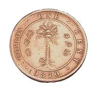 1 Cent - Ceylan - Victoria - 1870 - Cuivre - TB + - - Sri Lanka