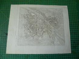 Pianta Di Firenze. Italie Italia. Florence. Gravure Du 19e Siècle - Prints & Engravings