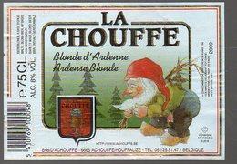 (BELGIQUE) étiquette LA CHOUFFE Bière Blonde D'Ardennec (PPP12115) - Advertising