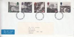 Great Britain FDC Scott #1533-#1537 Set Of 5 Steam Trains - FDC