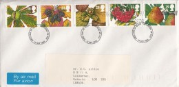 Great Britain FDC Scott #1510-#1514 Set Of 5 Autumn Fruits - FDC