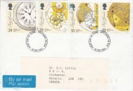 Great Britain FDC Scott #1489-#1492 Set Of 4 Marine Chronometers - John Harrison, Inventor - FDC