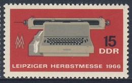DDR Germany 1966 Mi 1205 YT 908 ** Electric Writer / Elektrische Schreibmaschine Mit Streifenlocher Messezeichen - Telecom