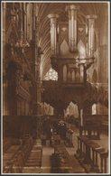 The Organ & Bishop's Throne, Exeter Cathedral, Devon, C.1920 - Judges RP Postcard - Exeter