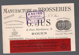 Rouen (76 Seine Maritime) Carte Commerciale BROSSERIE G JUS  (PPP12119) - Advertising