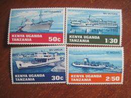 Kenya Uganda Tanzania 1969 Ships MNH - Kenya (1963-...)