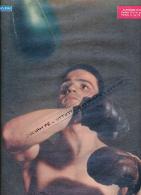 BOXE : PHOTO,  ALPHONSE HALIMI, PARFOIS IL A LE PUNCH, PARFOIS IL NE L'A PAS, COUPURE REVUE  (1957) - Boxing