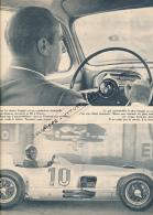 AUTOMOBILE, F1 : PHOTO, JUAN MANUEL FANGIO, EN VILLE ET SUR LES CIRCUITS, COUPURE REVUE (1957) - Car Racing - F1