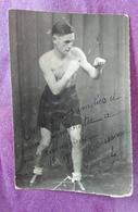 PHOTO BOXE BOXEUR à Identifier, Carte Postale Photo Dédicacée, Signée - Boxing