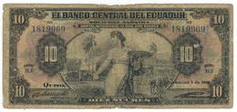 Ecuador 10 Sucres , 1935 (?) Giros Oro, Used, See Image. Rare - Ecuador