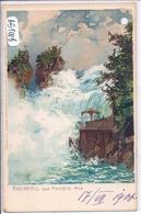 SH- RHEINFALL VON FISCHETZ AUS- 1900- RARE LITHO- PERFOREE - SH Schaffhouse