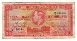 Bermuda 10 Shill. 1937, F/VF. Rare - Bermudes