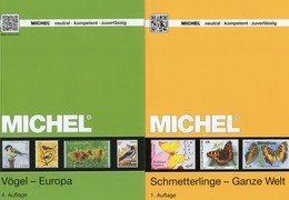2 MlCHEL Kataloge Schmetterlinge+Vögel 2017 Briefmarken New 134€ WWF Fauna Stamps Bird/butterfly Catalogue Of Topic - Thématiques