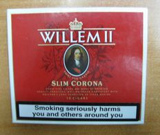 AC - WILLEM II SLIM CORONA  NETHERLANDS 10 CIGARS OPENED PAPERBOARD BOX FOR COLLECTION - Around Cigars