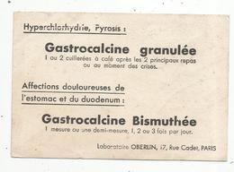 Petit Buvard , 15 X 10 , Gastrocalcine , Laboratoire OBERLIN , Paris - Produits Pharmaceutiques