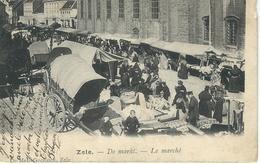 ZELE : De Markt - Le Marché - RARE VARIANTE - Zele