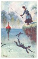 Cpa Illustrateur - The Gentle Art Of Angling - Signée : Ellam ( Pêche, Bouchon )   (S.2693 ) - Altre Illustrazioni