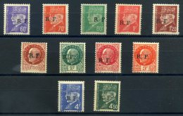 FRANCE 1944 LIBERATION BORDEAUX TYPE 2 LE LOT 11 TIMBRES ** LUXE - Liberation