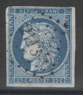 France - YT 4 - 25c Bleu Oblitéré PC 2113 Montluçon, Allier - 1849-1850 Cérès
