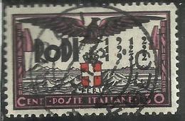 EGEO 1932 VENTENNALE DELL'OCCUPAZIONE E DECENNALE FASCISTA CENT. 30c USATO USED OBLITERE' - Egée