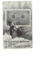Cpa Militaria Soldat Billet De Banque 20 Francs Monnaie N°120 Gallia Sid - Coins (pictures)