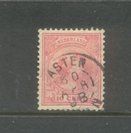 Nvph 31 Gebruikt Met Kleinrond Asten - Periode 1891-1948 (Wilhelmina)
