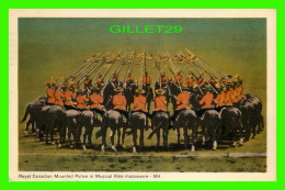 MÉTIERS - ROYAL CANADIAN MOUNTED POLICE IN MUSICAL RIDE MANOEUVRE -  TRAVEL IN 1953 - THE PHOTOGELATINE ENGRAVING CO LTD - Police - Gendarmerie