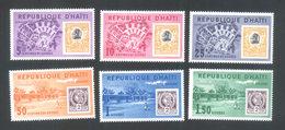 Haiti 1962 - A Set Of 6 Duvalier-ville Commemoration Duvalier Ville City Celebrations Places Stamp On Stamp Stamps MNH - Haiti