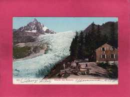 74 Haute Savoie, Glacier Des Bossons, Animée, Colorisée, Chalet, 1906 - Zonder Classificatie