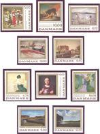Danemark: Lot De 10 Valeurs, Art; Tableau - Lotes & Colecciones