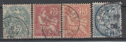 CHINE  BUREAUX FRANCAIS      YT 23 24  25 ET 27  BEAU CACHET SHANGHAI     TB - Used Stamps