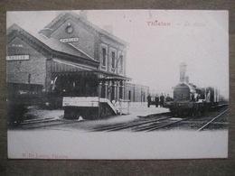 Cpa Thielen Tielen (Kasterlee) - De Statie - La Gare - Locomotive Chemin De Fer - B. De Loose - 1906 - Kasterlee