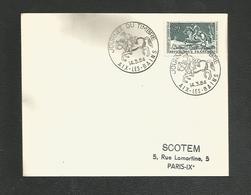 OBLITERATION JOURNEE DU TIMBRE 1964 - AIX LES BAINS - Marcophilie (Lettres)