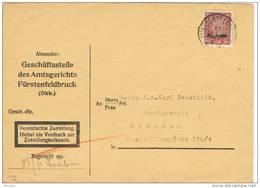 28548. Carta Oficial FURSTENFELDBRUCK (Alemania Reich) 1928. SERVICE - Oficial