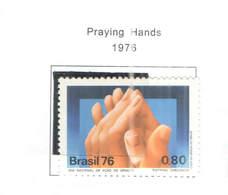 Brasile PO 1976 Mani In Preghiera L  Scott.1489+ See Scan On Scott.Page+ - Nuevos
