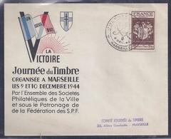 Enveloppe Locale Journee Du Timbre 1944 Marseille Grand Format - France