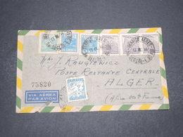 ALGÉRIE - Taxe D 'Alger Sur Enveloppe Du Brésil En 1946 - L 16557 - Algeria (1924-1962)
