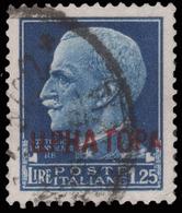"""MONTENEGRO: Francobollo D'Italia """"Imperiale"""" Soprastampato - Lire 1,25. Azzurro - 1941 - 9. WW II Occupation (Italian)"""