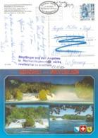 """AK  """"Rheinfall""""  Neuhausen - Augsburg  (Empfänger Nicht Zu Ermitteln)        1990 - Brieven En Documenten"""