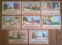 """Lot De 8 Cartes Postales Anciennes """" Les Rondes Enfantines """" Illustrateur JACK - Musique"""